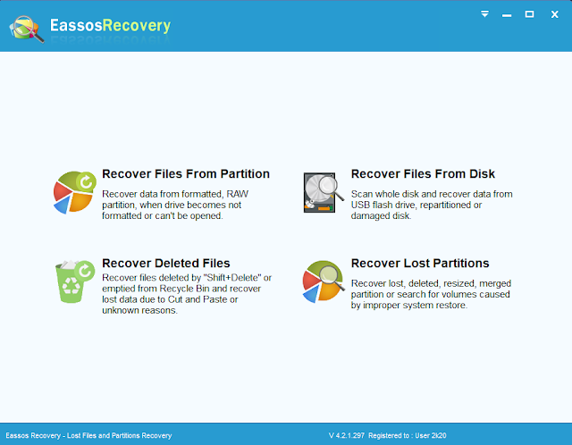 Eassos Recovery Serial key