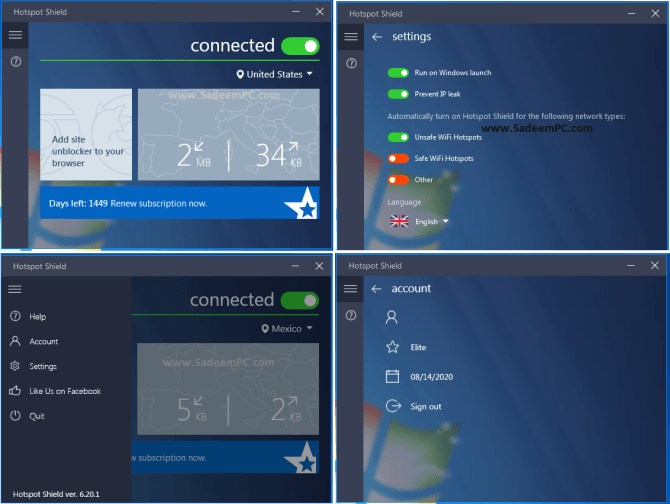 Hotspot Shield VPN Elite v7.20.9 Crack